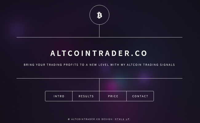 altcoin trader homepage