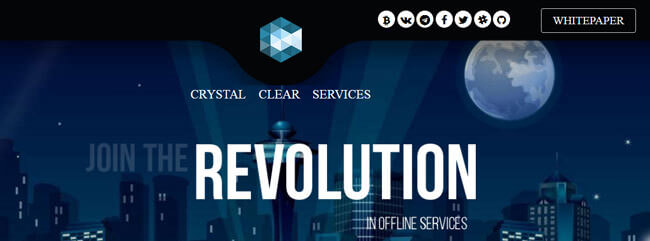 Crystal Clear Services homepage