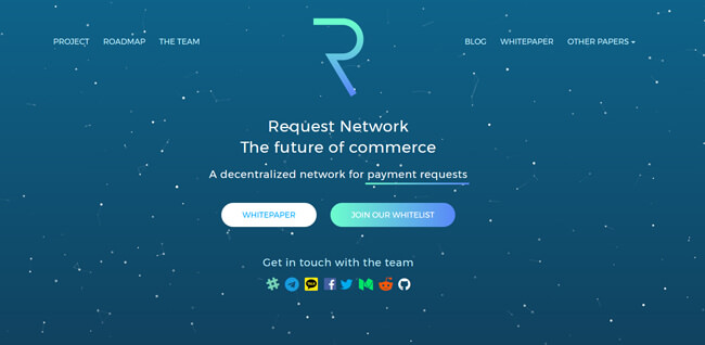 Request Network homepage